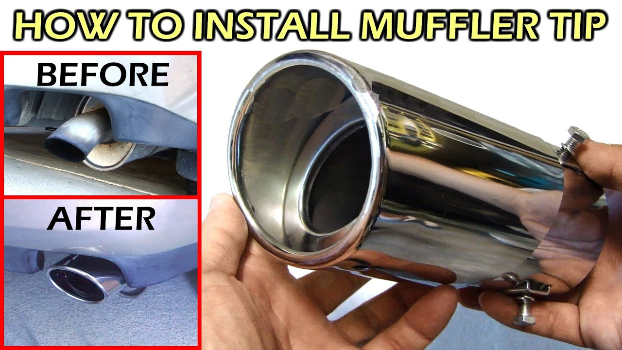 how to install stainless steel muffler tip