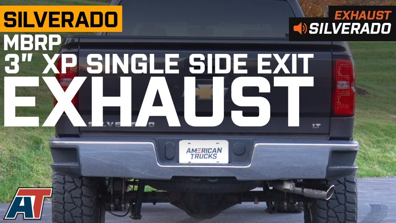 2014 2018 silverado mbrp 3 xp series single side exit system 5 3l exhaust sound clip install