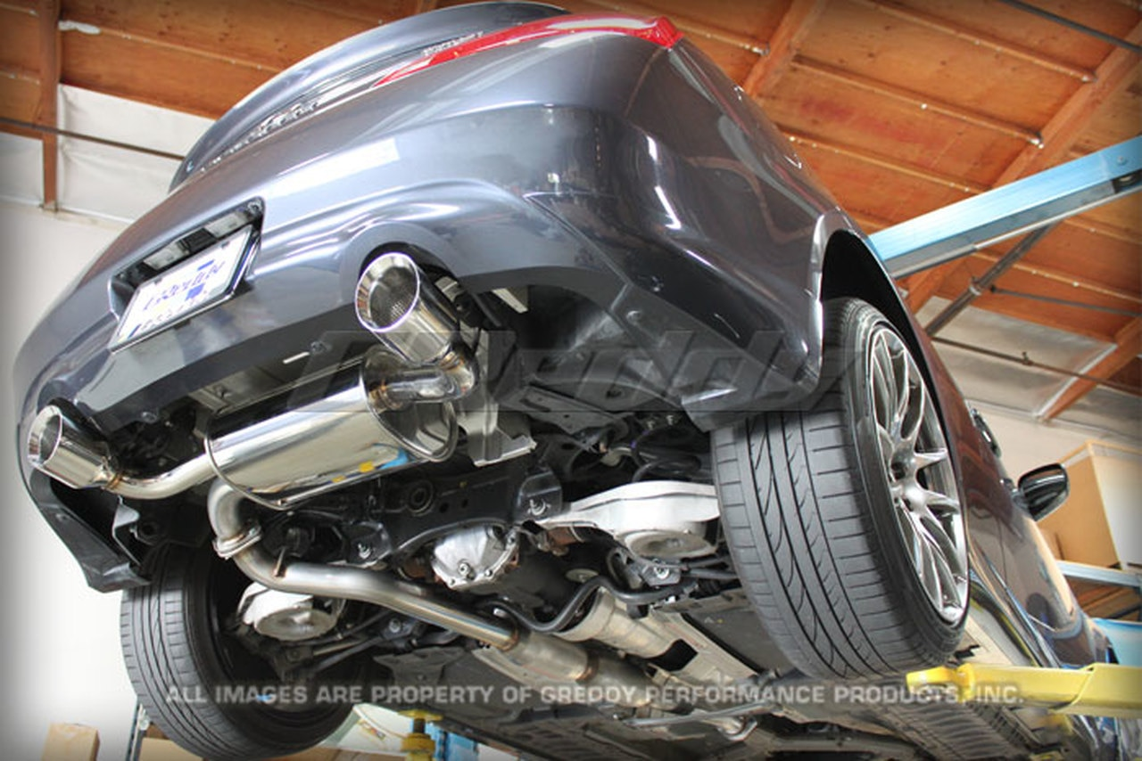 greddy sp elite catback exhaust for infiniti g37 coupe 08 12
