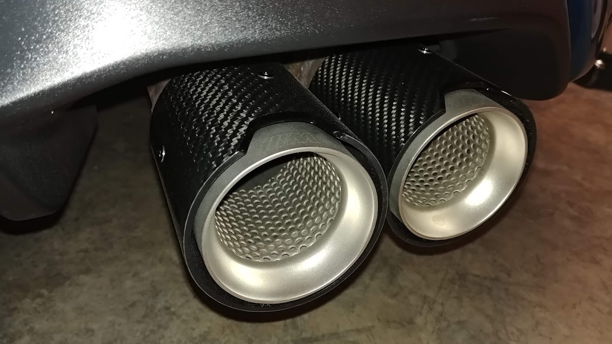 m performance exhaust tips bmw m2