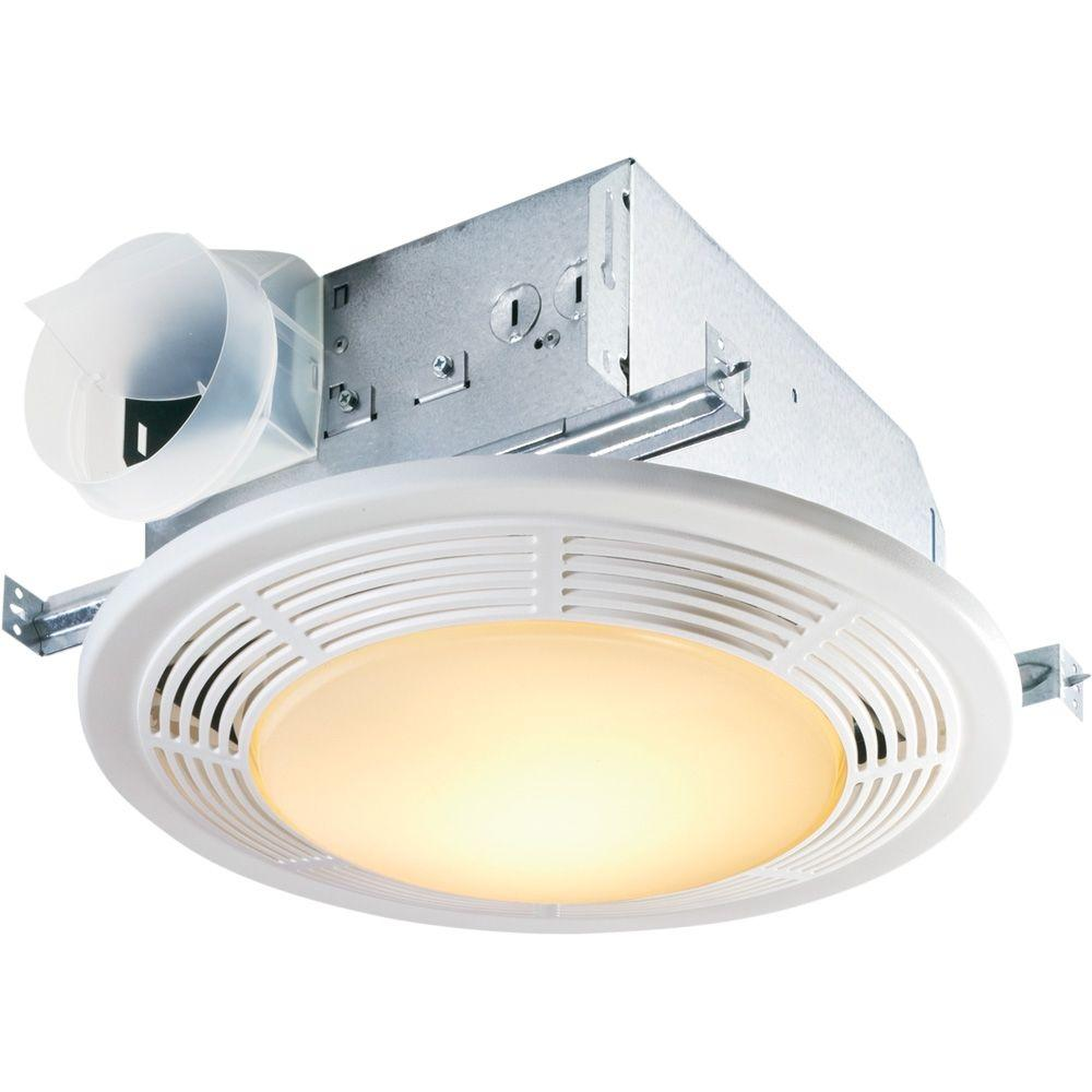 broan nutone decorative white 100 cfm ceiling bathroom exhaust fan with light 8664rp the home depot